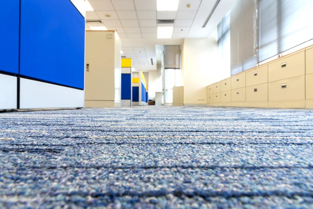 Carpet floor in office